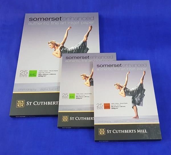 Somerset enhanced inkjet a3+ a4 velvet a4 textured