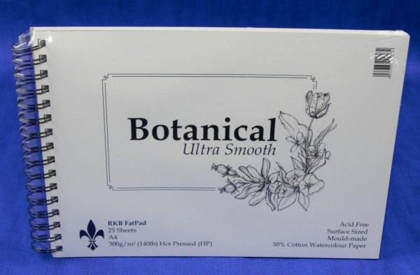 RKB Fat Pad Botanical Ultra Smooth Watercolour Paper A5 25 Sheet 300gsm